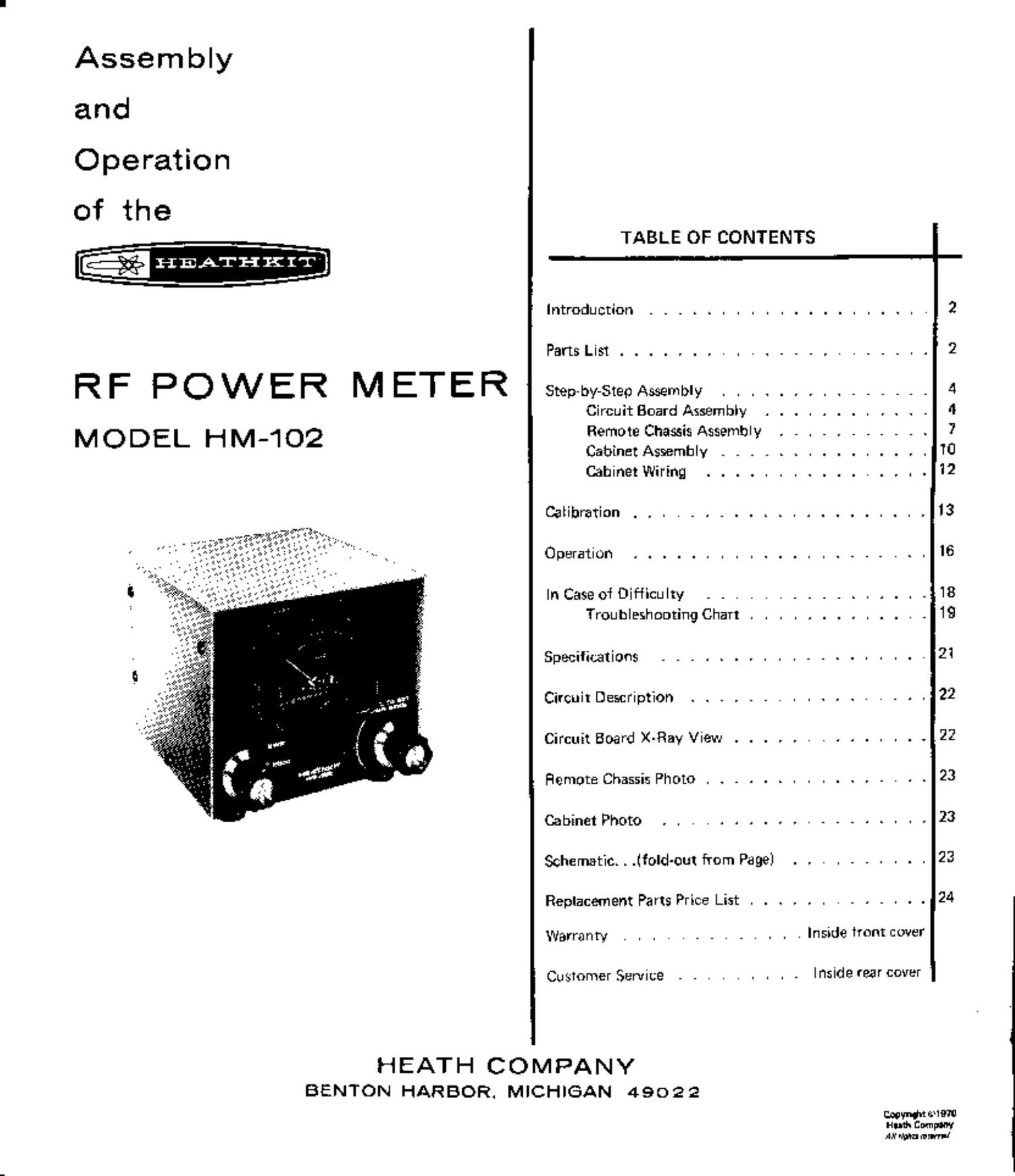 heathkit hm 102 manual 2 rh audioservicemanuals com heathkit ig 102 manual Heathkit Ha 10 Warrior Amp Manual