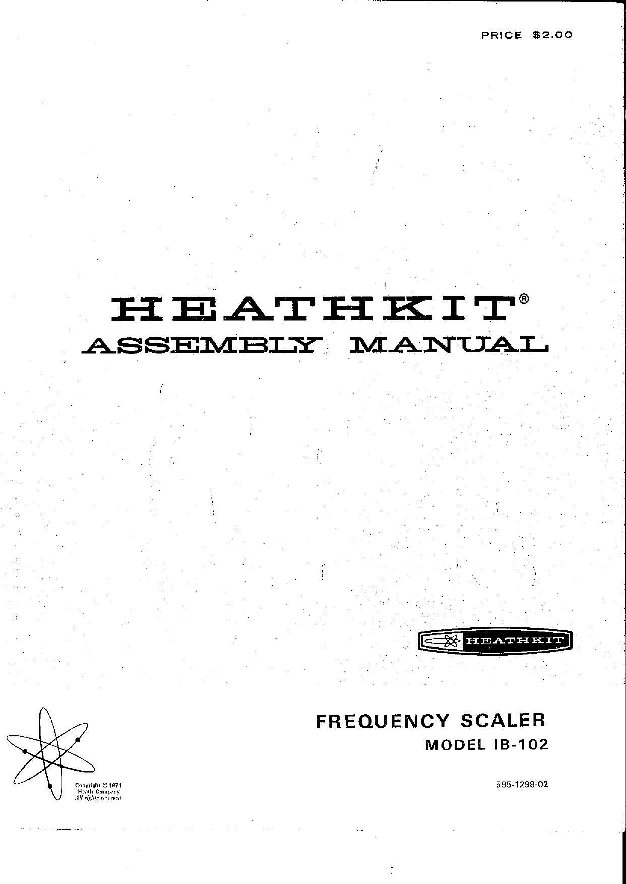 heathkit ib 102 manual rh audioservicemanuals com Heathkit Ha 10 Warrior Amp Manual