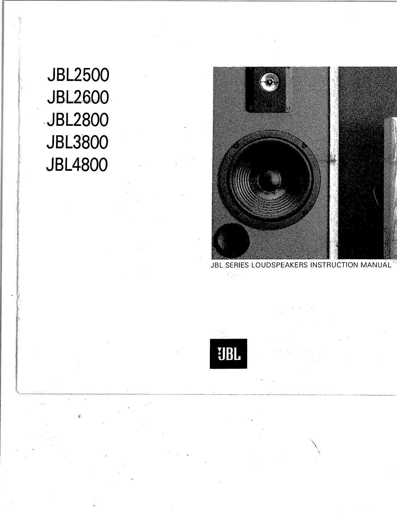 jbl 2500 owners manual rh audioservicemanuals com jbl sb 450 owners manual jbl clip owners manual