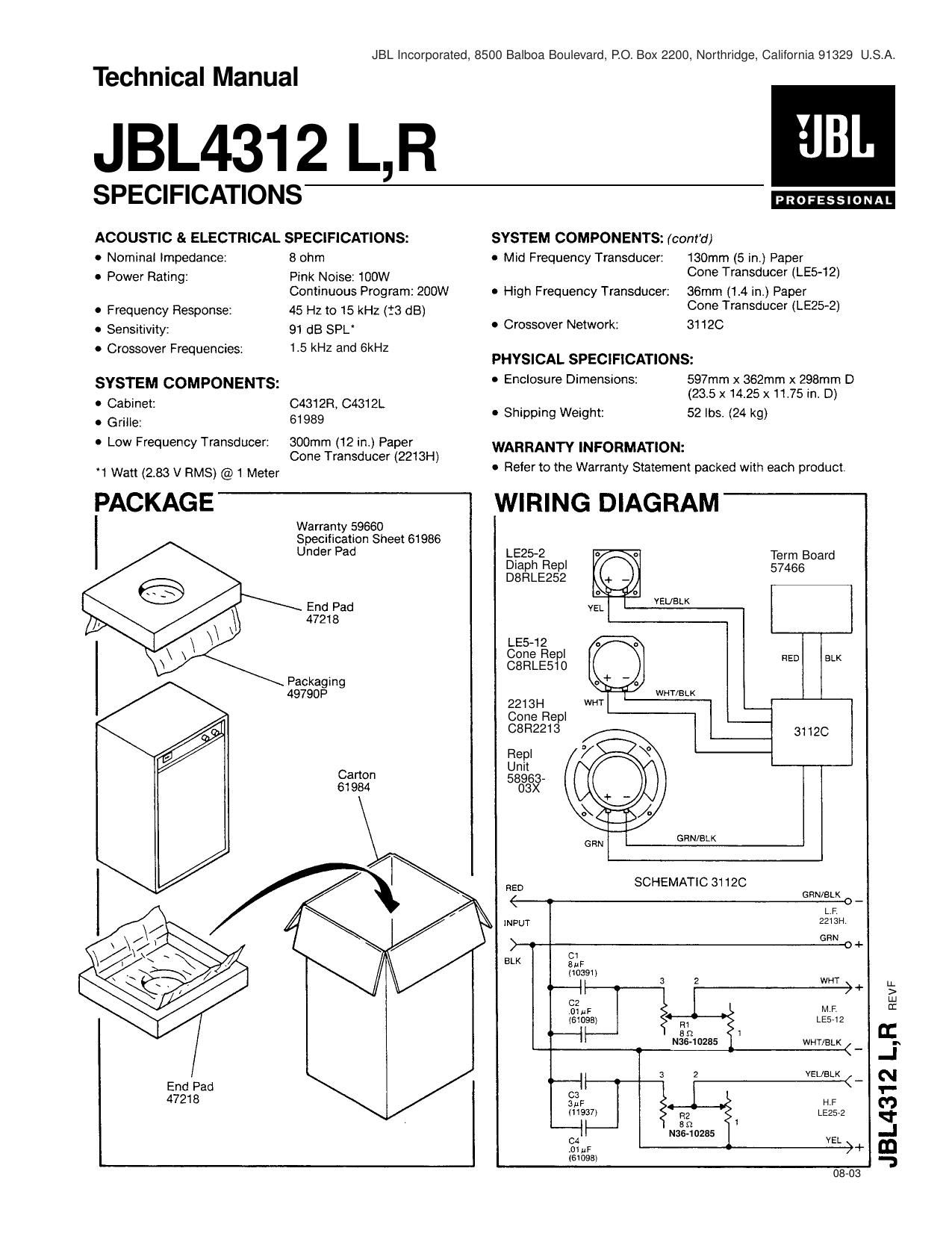Jbl Crossover Wiring Diagram Trusted Diagrams Glamorous Toyota 16840 Plug Schematic Photos 4435