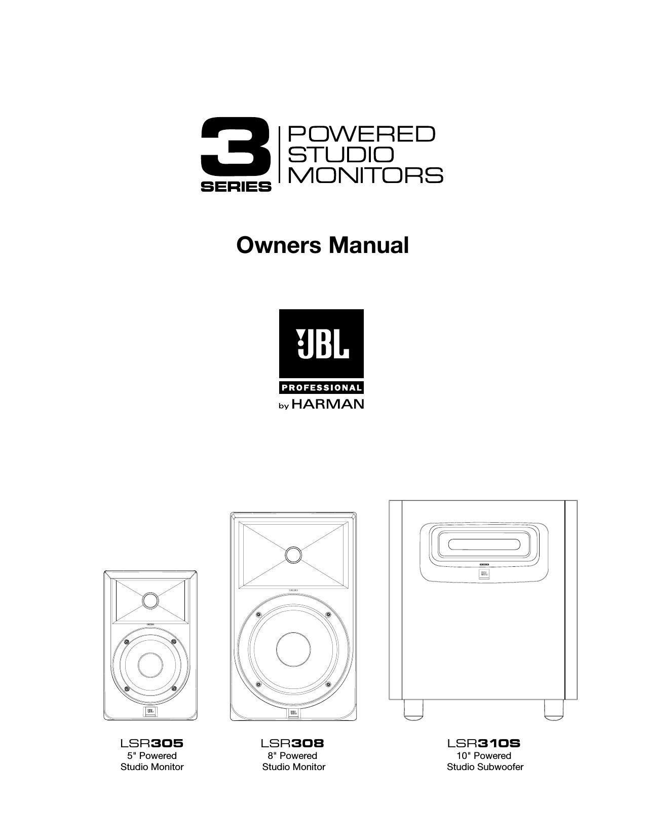 jbl lsr 308 owners manual rh audioservicemanuals com jbl e40bt owners manual jbl xtreme owner manual