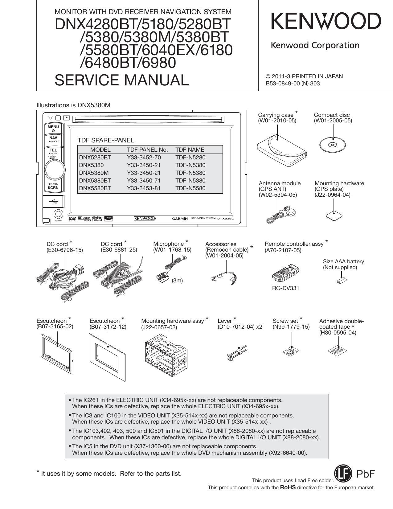 kenwood dnx 6980 service manual rh audioservicemanuals com Kenwood Manuals DNX9960 Kenwood Radior600