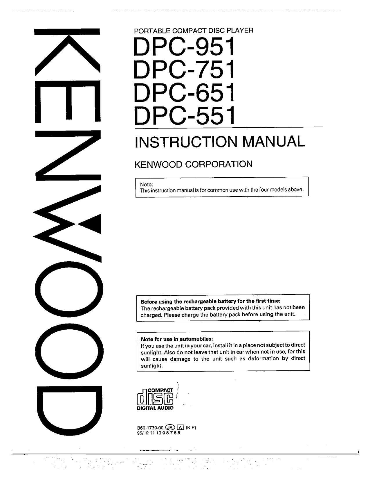 kenwood dpc 551 owners manual rh audioservicemanuals com kenwood owners manual dpx593bt kenwood owners manual download