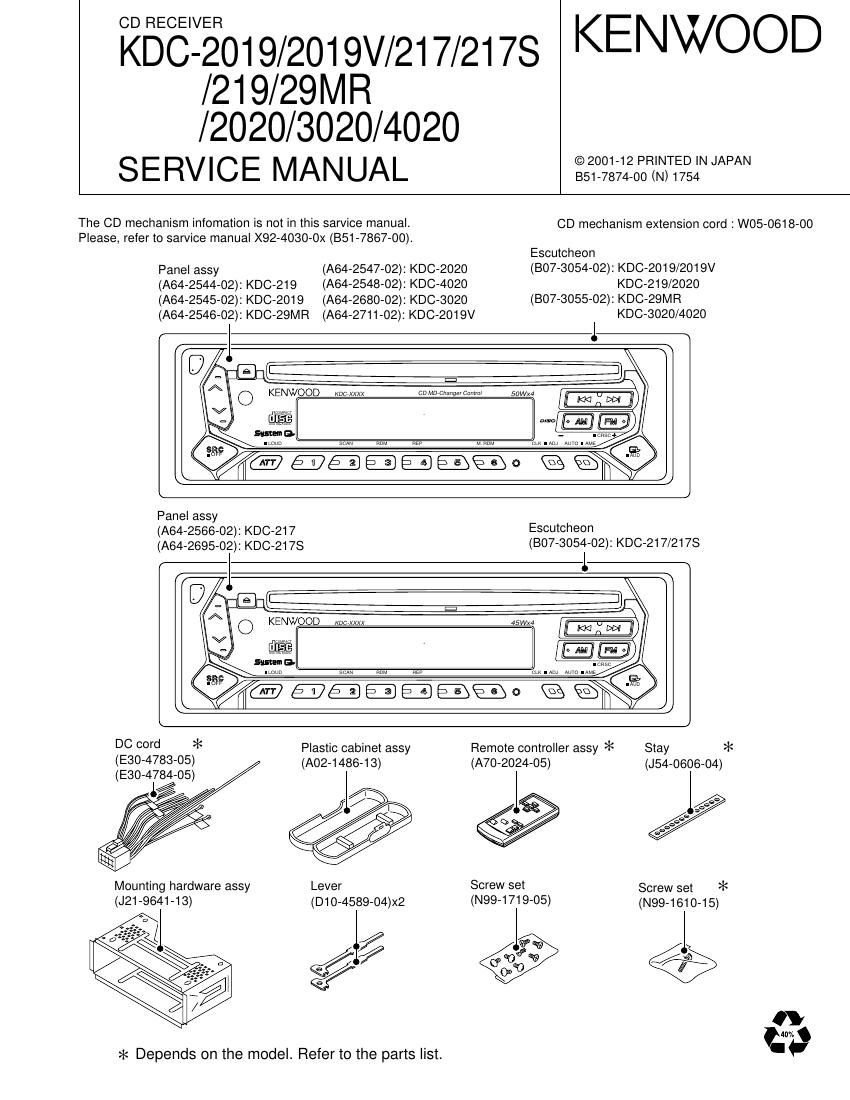 Kenwood Kdc 2019 Wiring Harness Detailed Schematics Diagram 400u Manual Enthusiast Diagrams U2022 Radio 135 A Car
