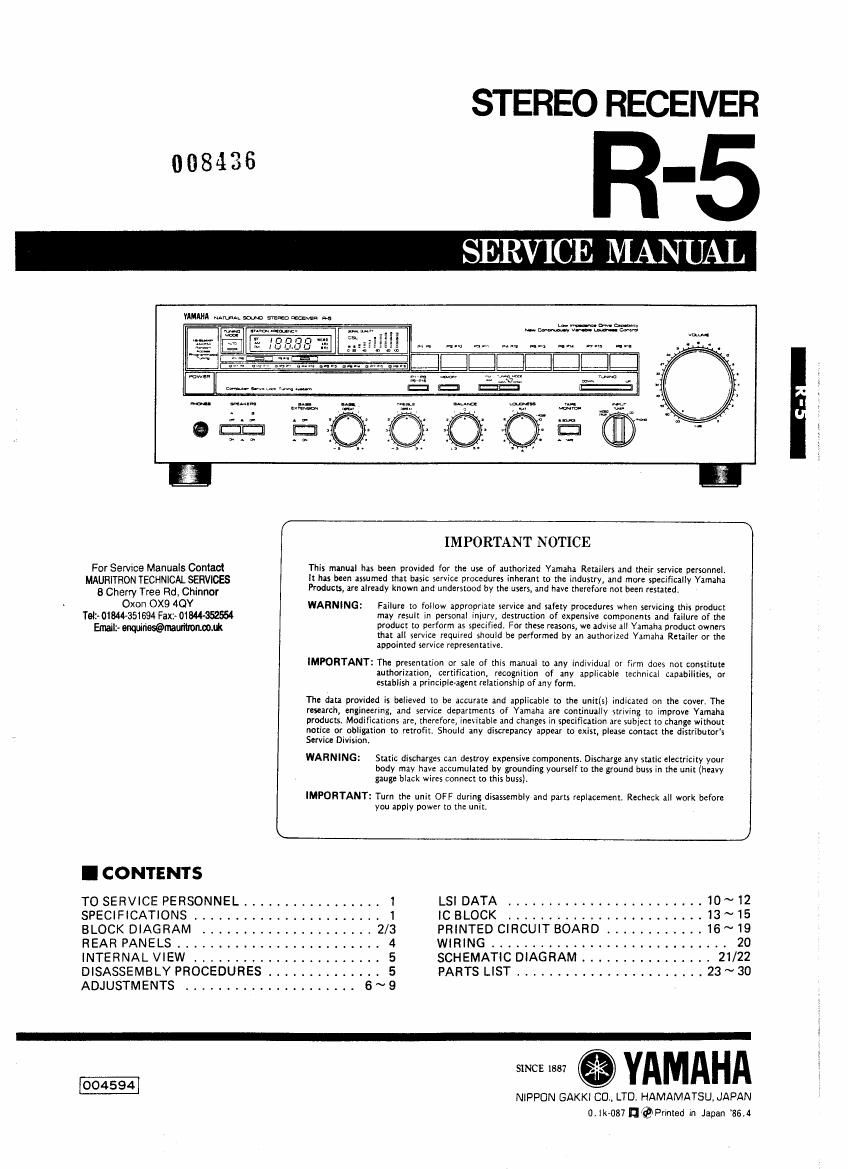 Kenwood R 5 Service Manual Wiring Diagram