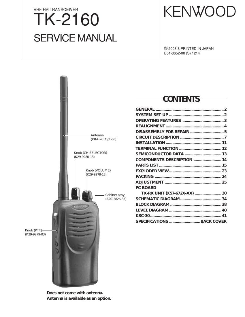 kenwood tk 2160 service manual rh audioservicemanuals com Kenwood Tk 2160 Parts Kenwood Tk 3160 Parts