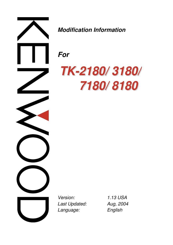 kenwood tk 7180 service manual 2 rh audioservicemanuals com 7180 Kenwood Radio Programming Software Kenwood Tk 8180 Sale