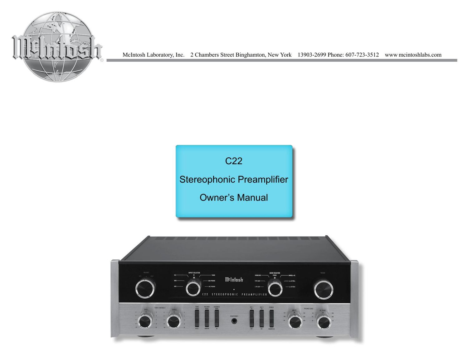 mcintosh c22 owners manual rh audioservicemanuals com mcintosh c22 preamp manual mcintosh c22 manual download