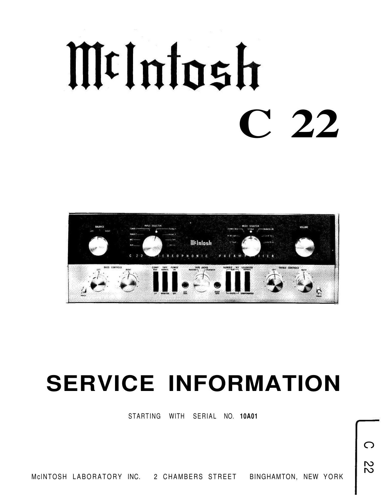 mcintosh c22 service manual 2 rh audioservicemanuals com mcintosh c22 reissue manual mcintosh c22 service manual
