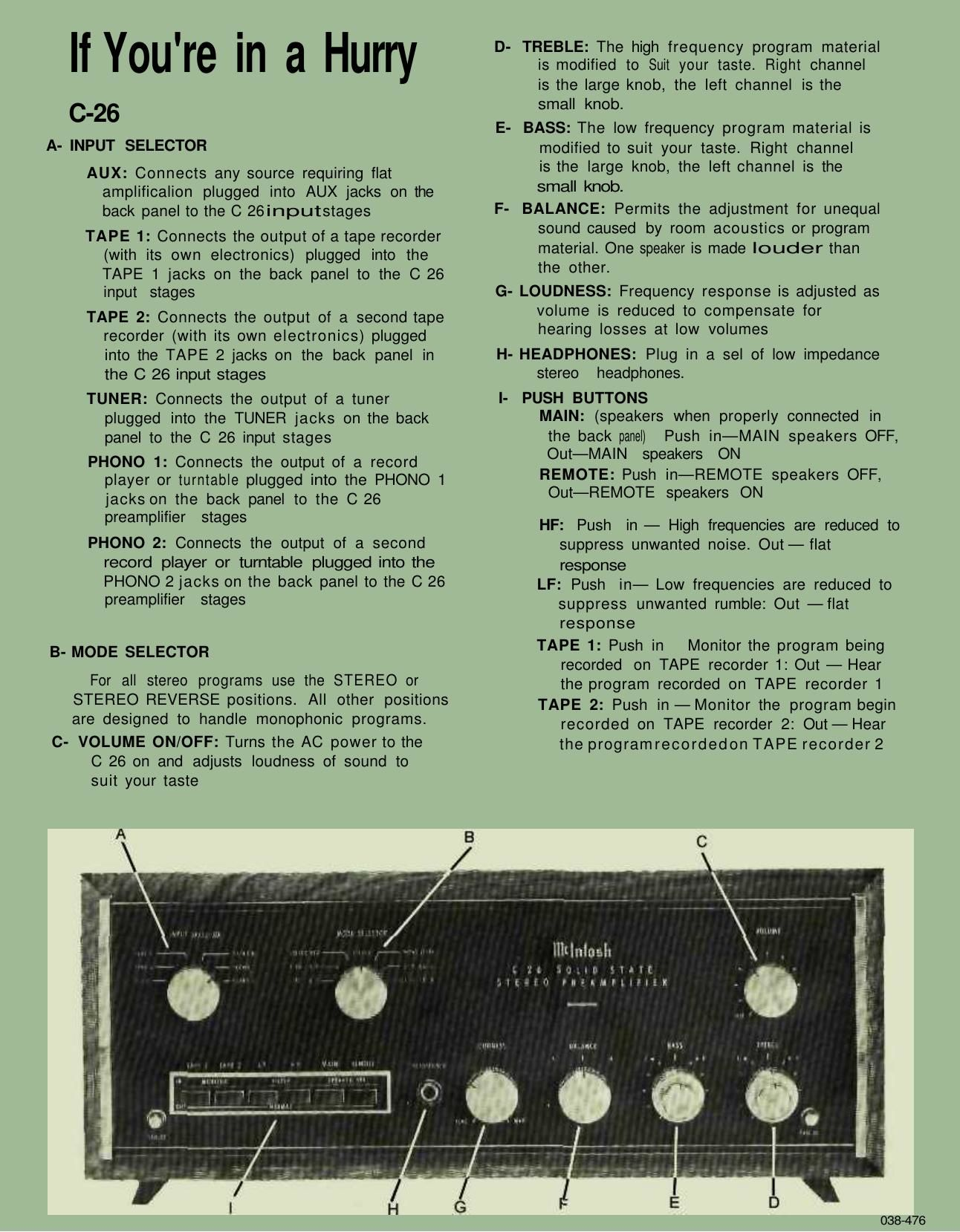 mcintosh c26 instruction manual rh audioservicemanuals com