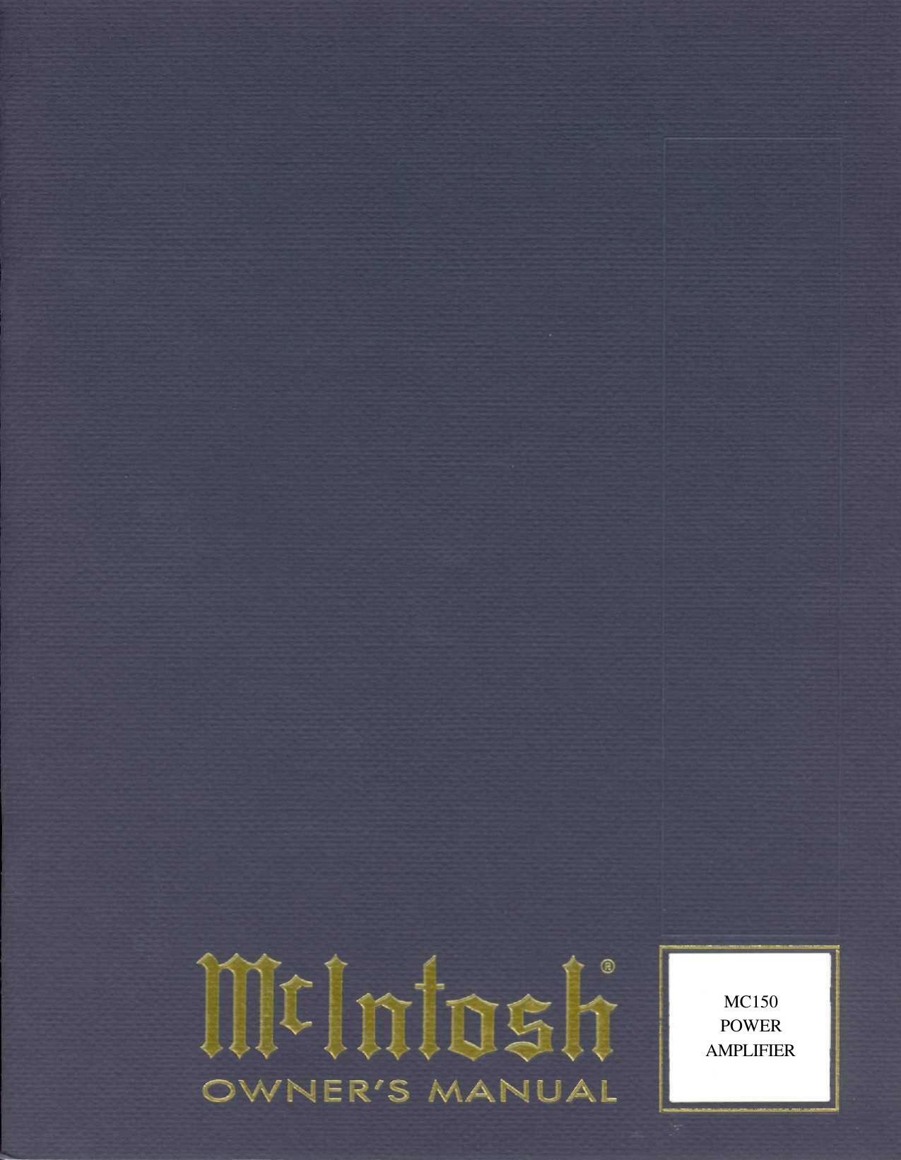 mcintosh mc 150 owners manual rh audioservicemanuals com mcintosh ma6900 owners manual mcintosh mc7150 owners manual