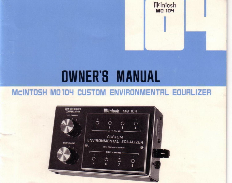 mcintosh mq 104 owners manual rh audioservicemanuals com mcintosh ma6300 owners manual mcintosh ma6900 owners manual