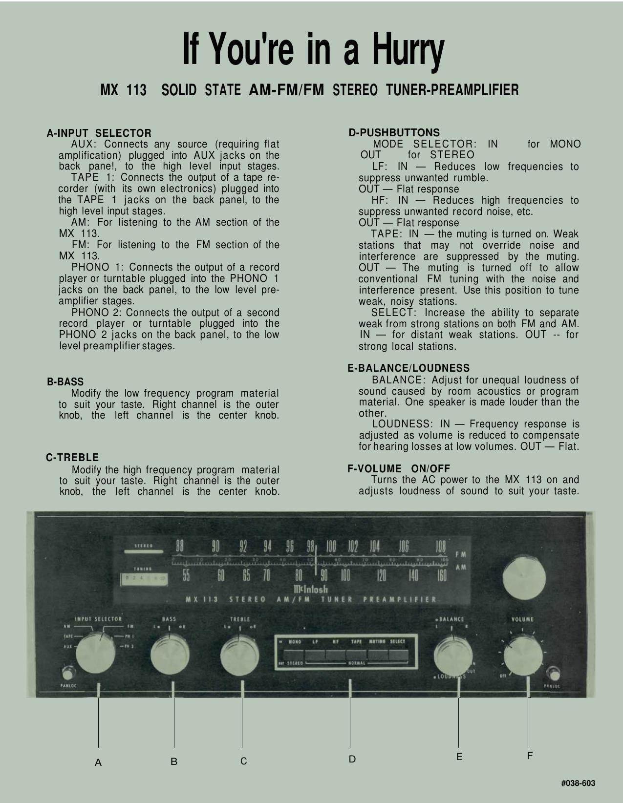 mcintosh mx 113 instruction manual rh audioservicemanuals com