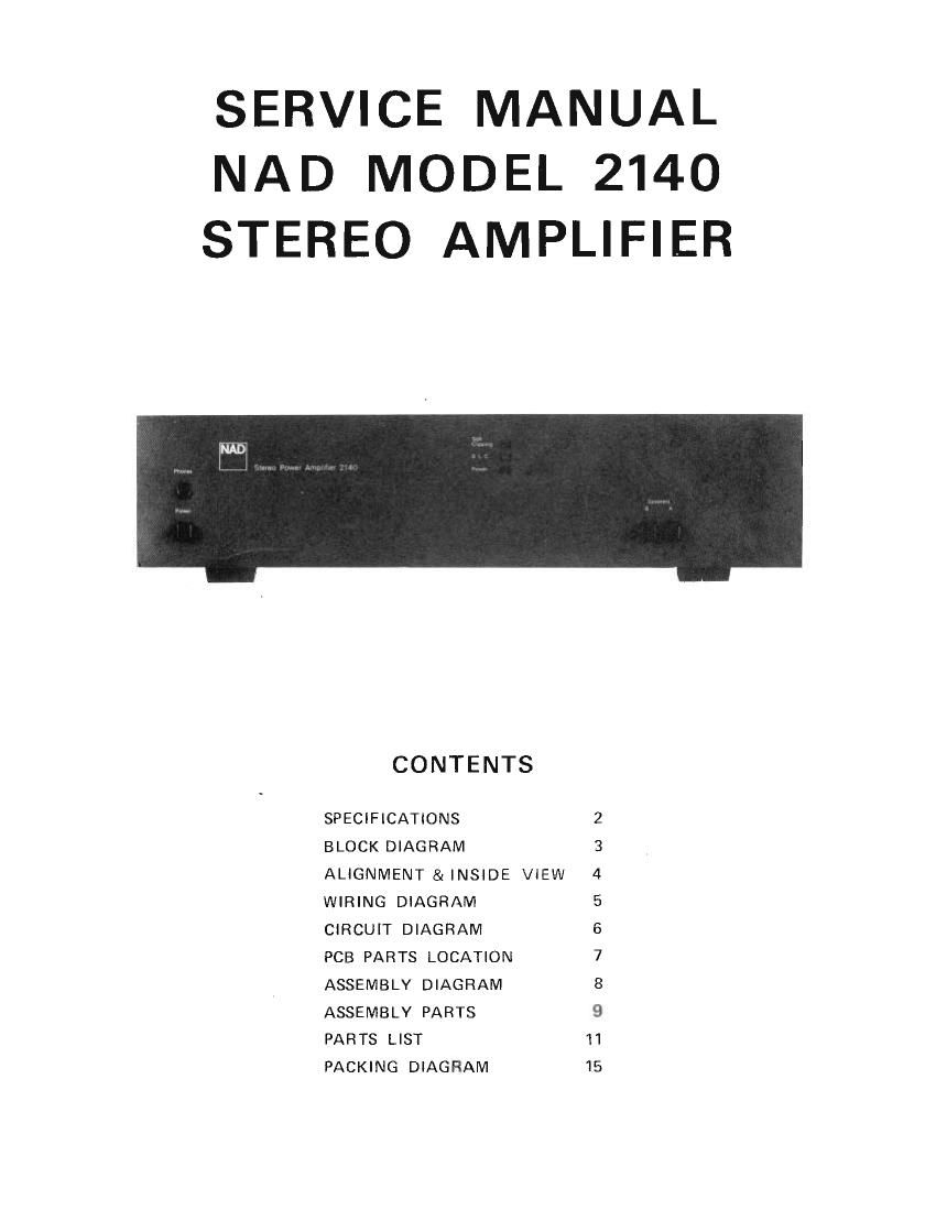 nad 2140 service manual rh audioservicemanuals com Brother HL 2140 Drivers Cub Cadet 2140