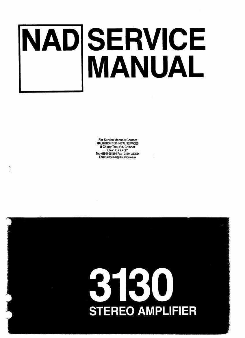 nad 3130 service manual rh audioservicemanuals com 3130 Genetic Analyzer John Deere 3130