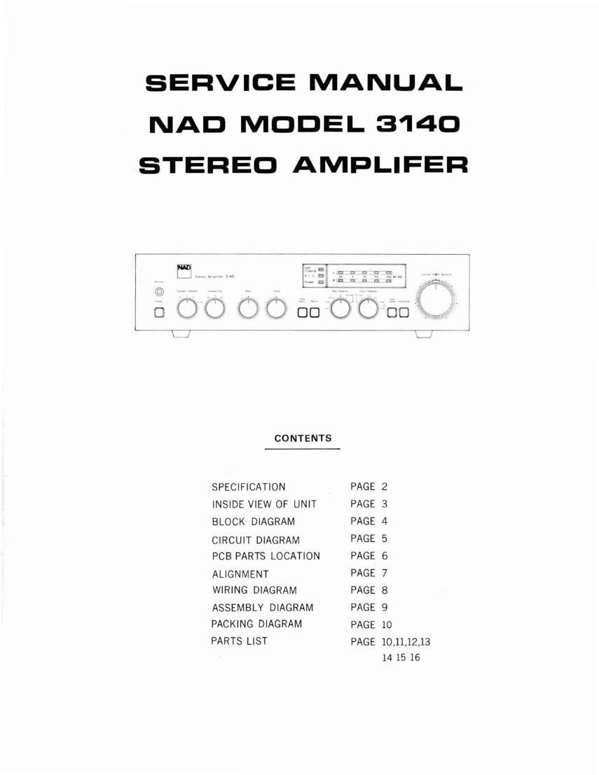 nad 3140 service manual rh audioservicemanuals com nad 3140 service manual pdf Nad 3140 Schematic