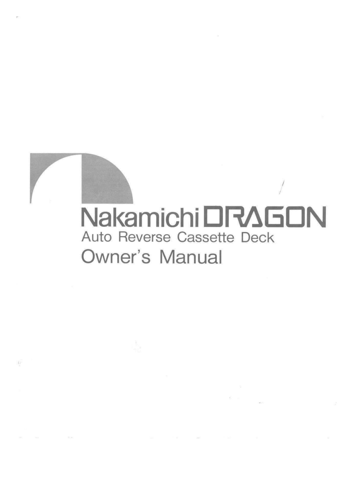nakamichi dragon owners manual rh audioservicemanuals com nakamichi dragon owners manual Nakamichi Dragon CD Player