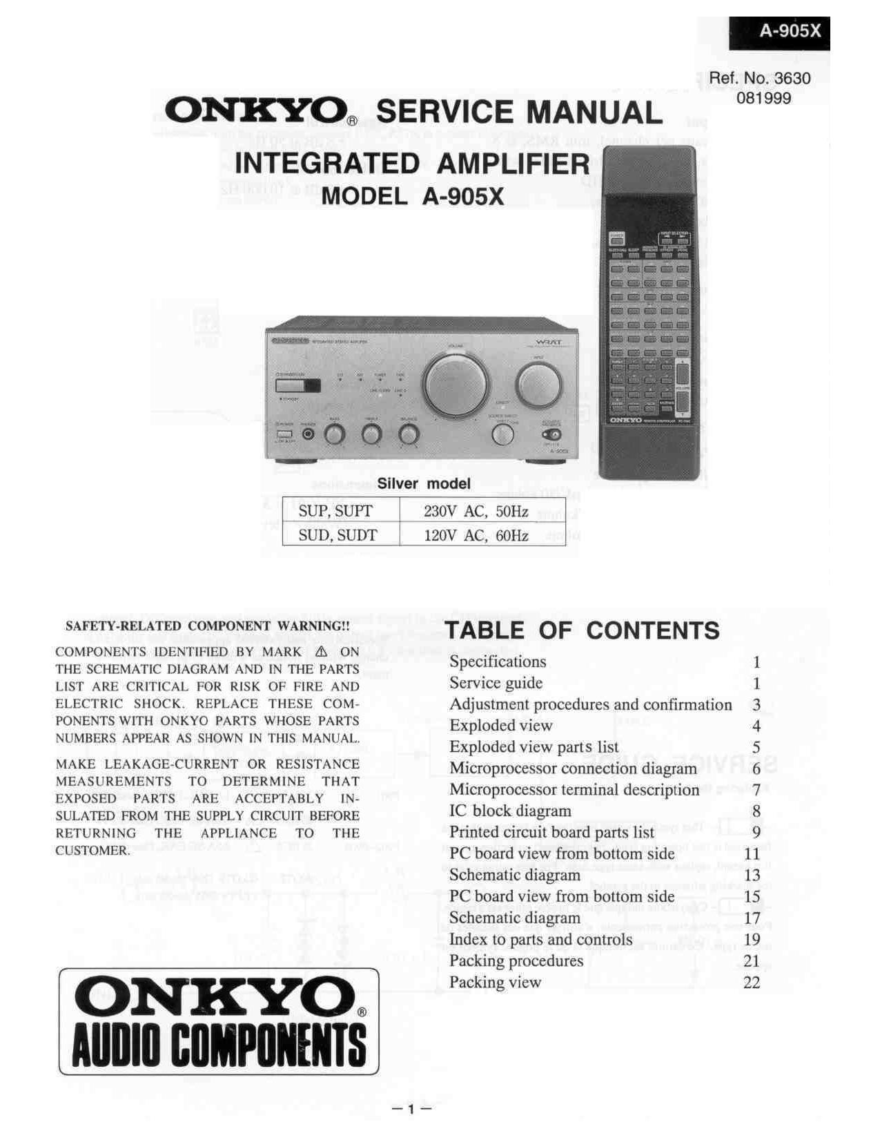 onkyo a 905 x service manual rh audioservicemanuals com onkyo 905 manual