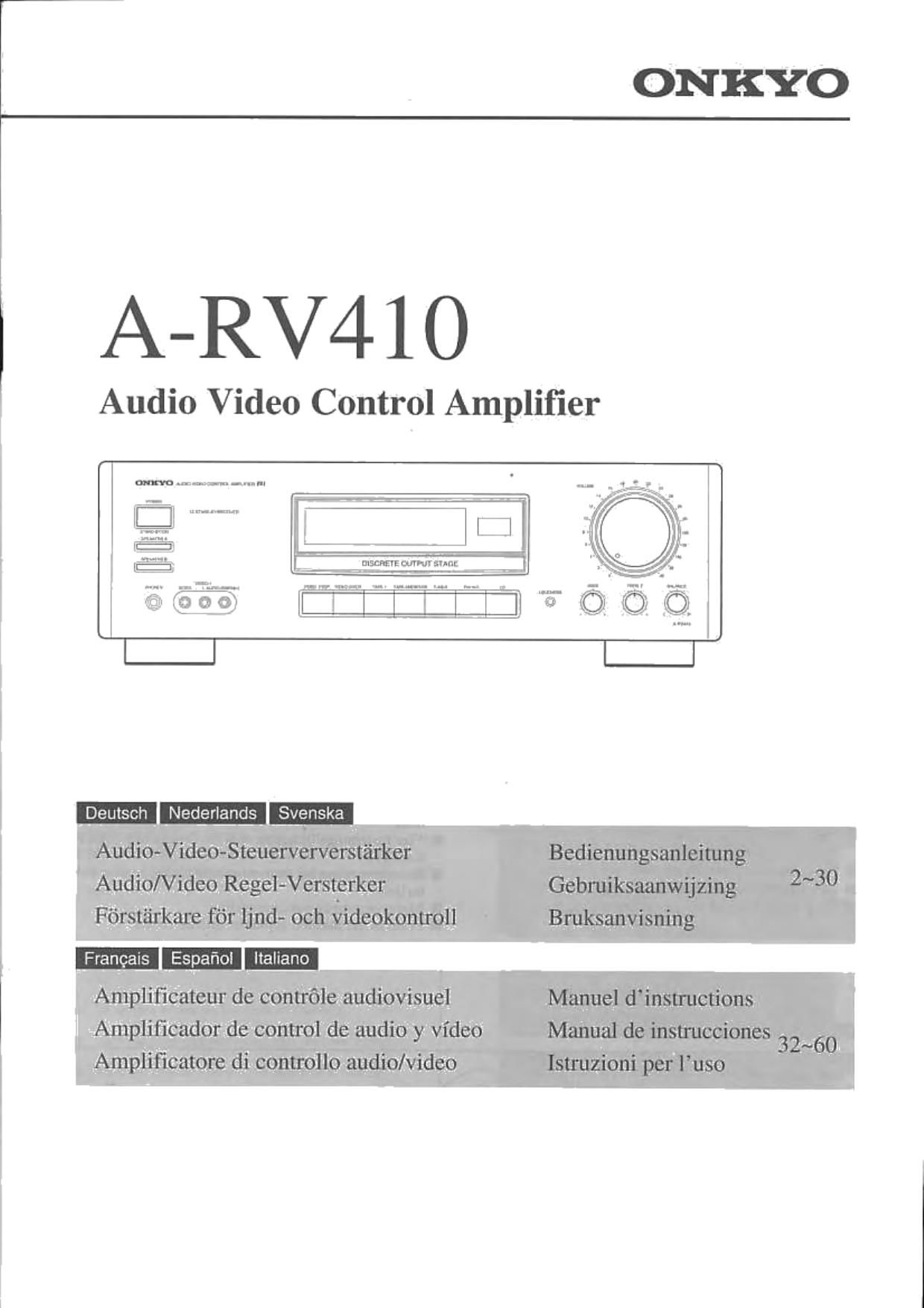 onkyo arv 410 owners manual rh audioservicemanuals com onkyo m 501 owner's manual onkyo owner manuals