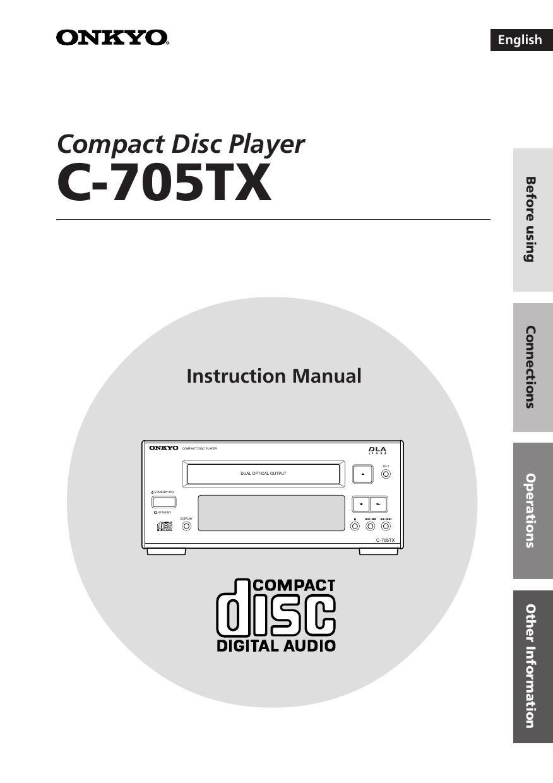onkyo c 705 tx owners manual 1 rh audioservicemanuals com onkyo c-705 service manual
