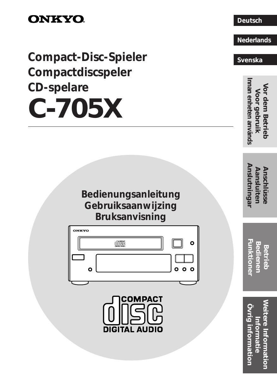 onkyo c 705 tx owners manual 2 rh audioservicemanuals com  onkyo c-705 manual
