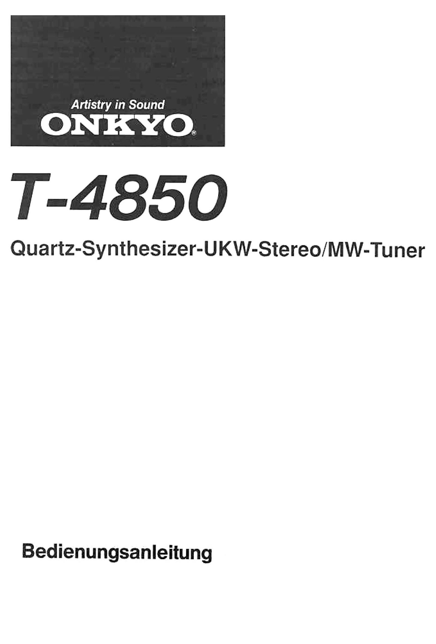 onkyo t 4850 owners manual rh audioservicemanuals com onkyo user manual onkyo owner manuals