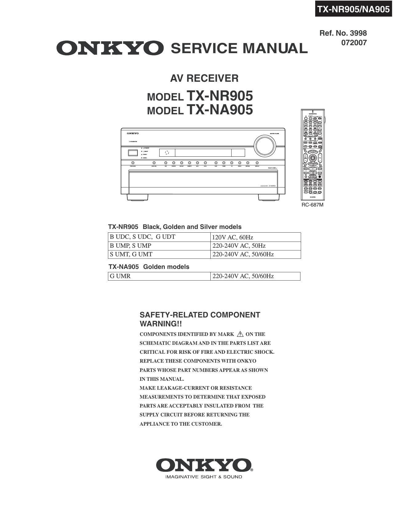 onkyo txnr 905 service manual rh audioservicemanuals com onkyo a 905 service manual