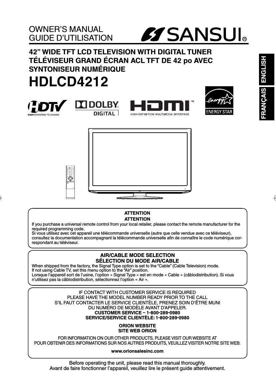 sansui hd lcd 4212 owners manual rh audioservicemanuals com sansui led tv service manual sansui crt tv service manual