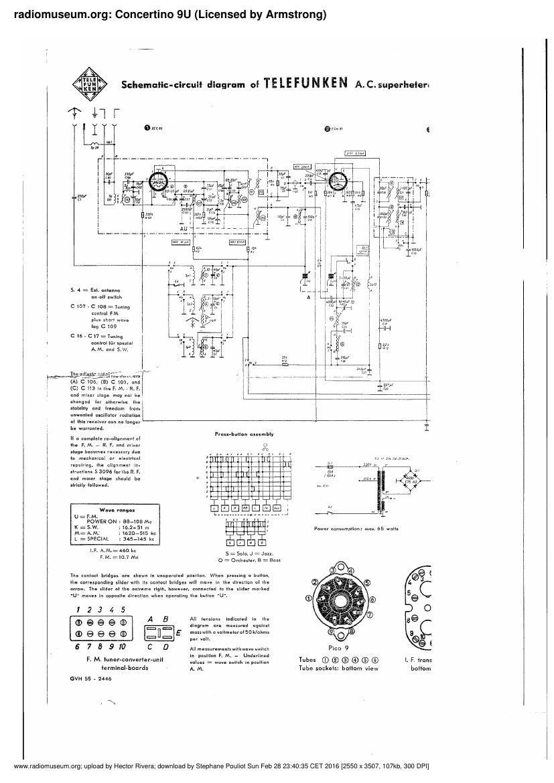 Telefunken Concertino 9u Schematic