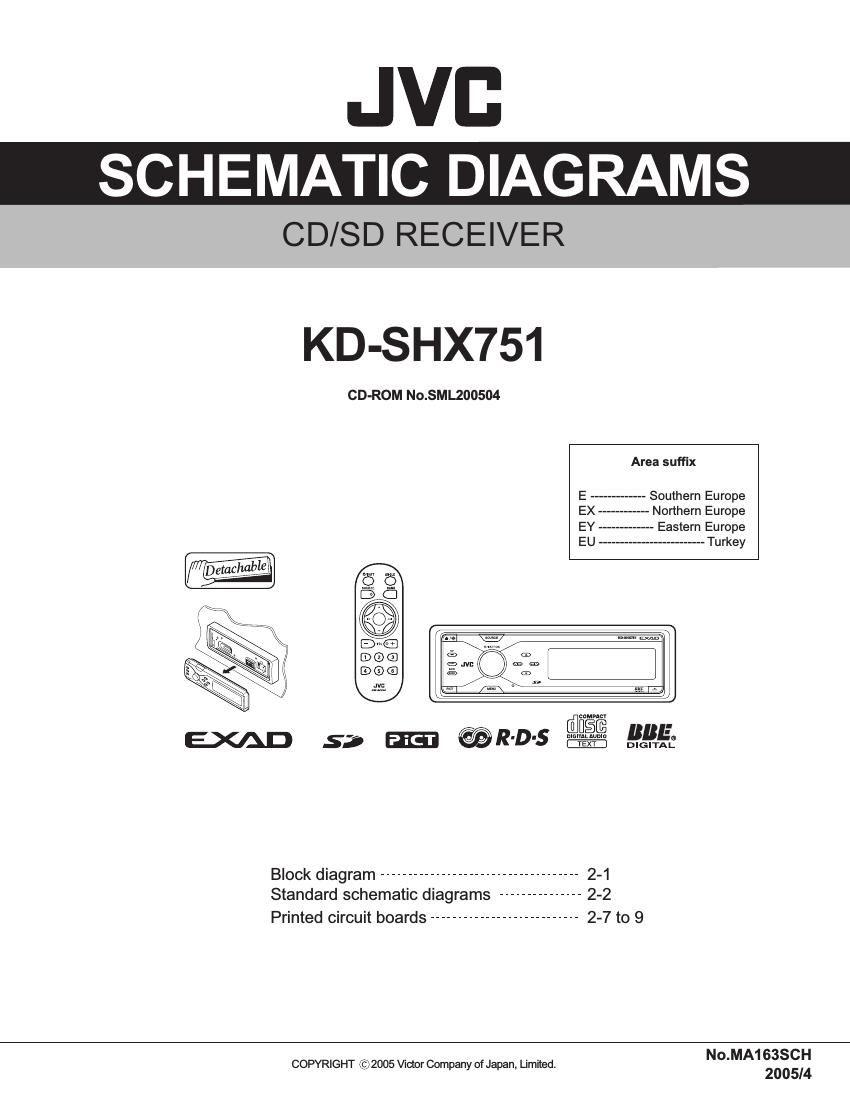 Jvc Kdshx 751 Schematic Diagram