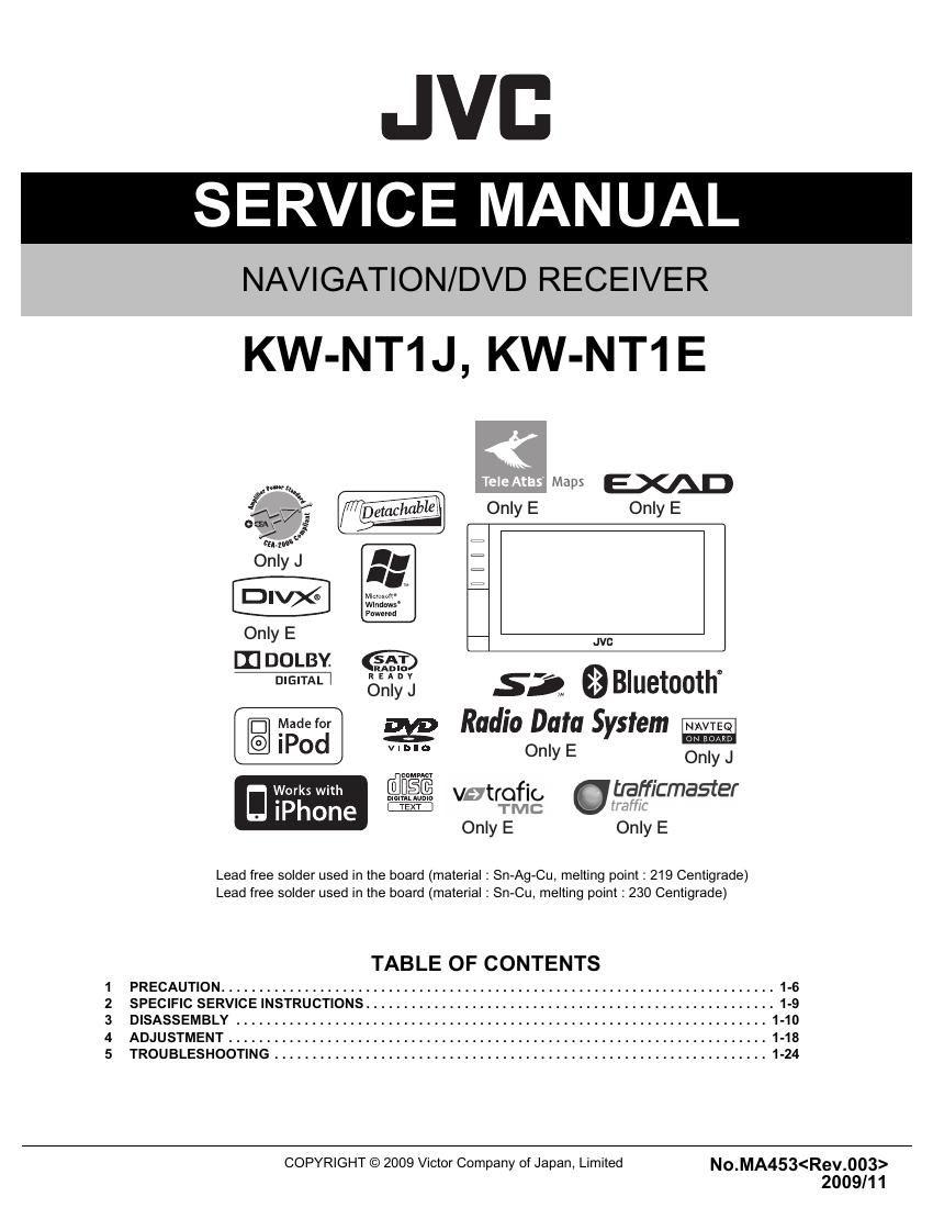 JVC UX-G1US - Owners Manual Immediate Download