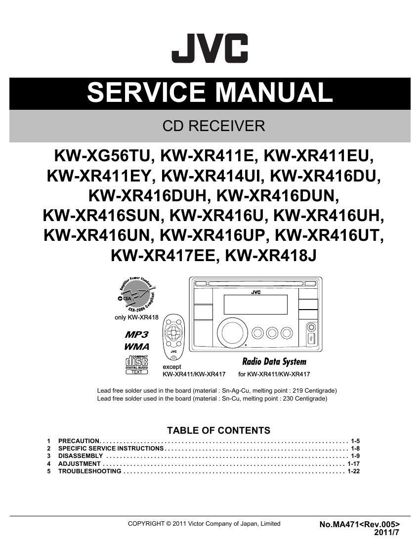 JVC TD-V711 SERVICE MANUAL Pdf Download | ManualsLib