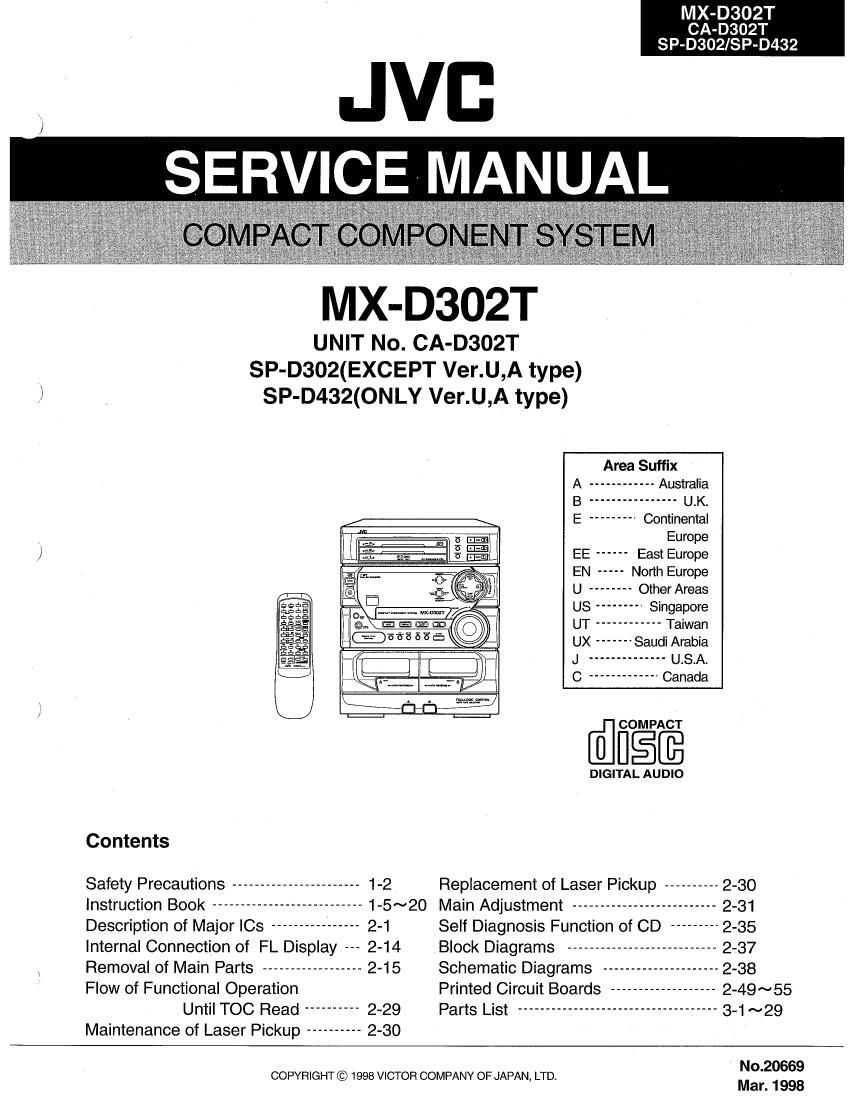 Mdx Manual Sony C800rec Wiring Harness Array Jvc 302 T Service Rh Audioservicemanuals
