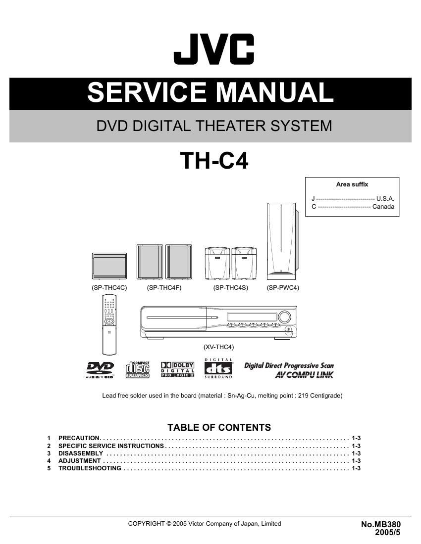 Free download Jvc AX 5 Service Manual