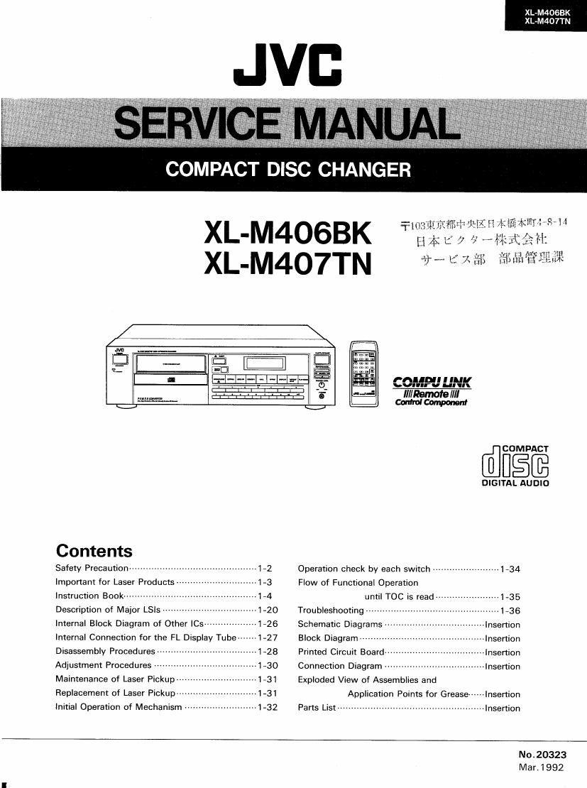 Free Download Jvc Xlm 407 Tn Service Manual