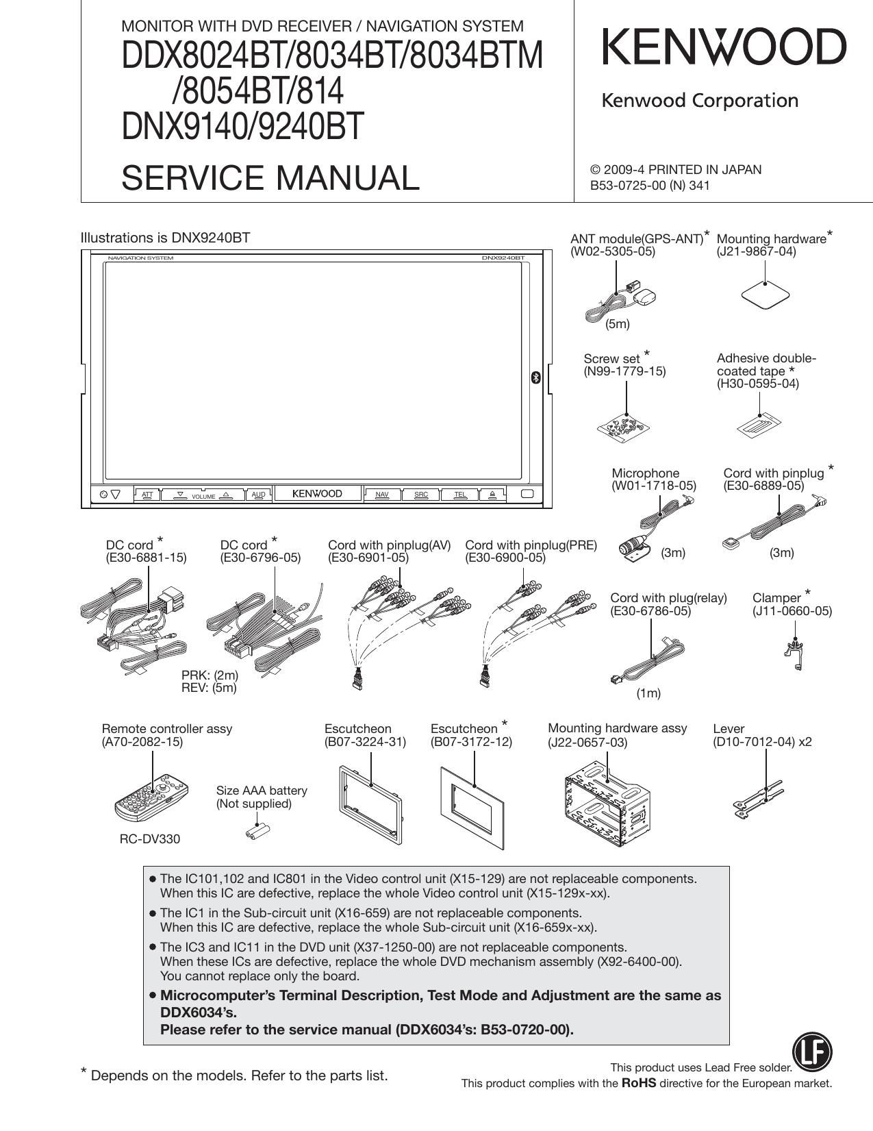 Kenwood Dnx 9140 Wiring Diagrams Dnx570hd Diagram Harness Service Manual On Deck Kac 720