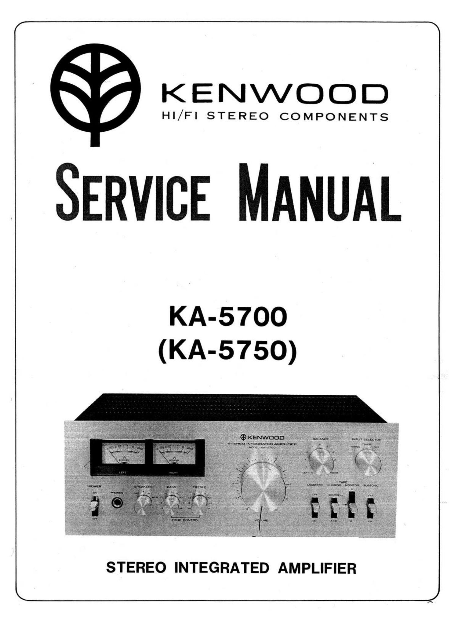 Download Kenwood Ka 5700 Service Manual