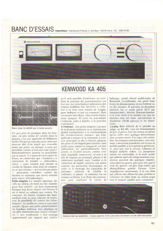 kenwood KA 405 Test
