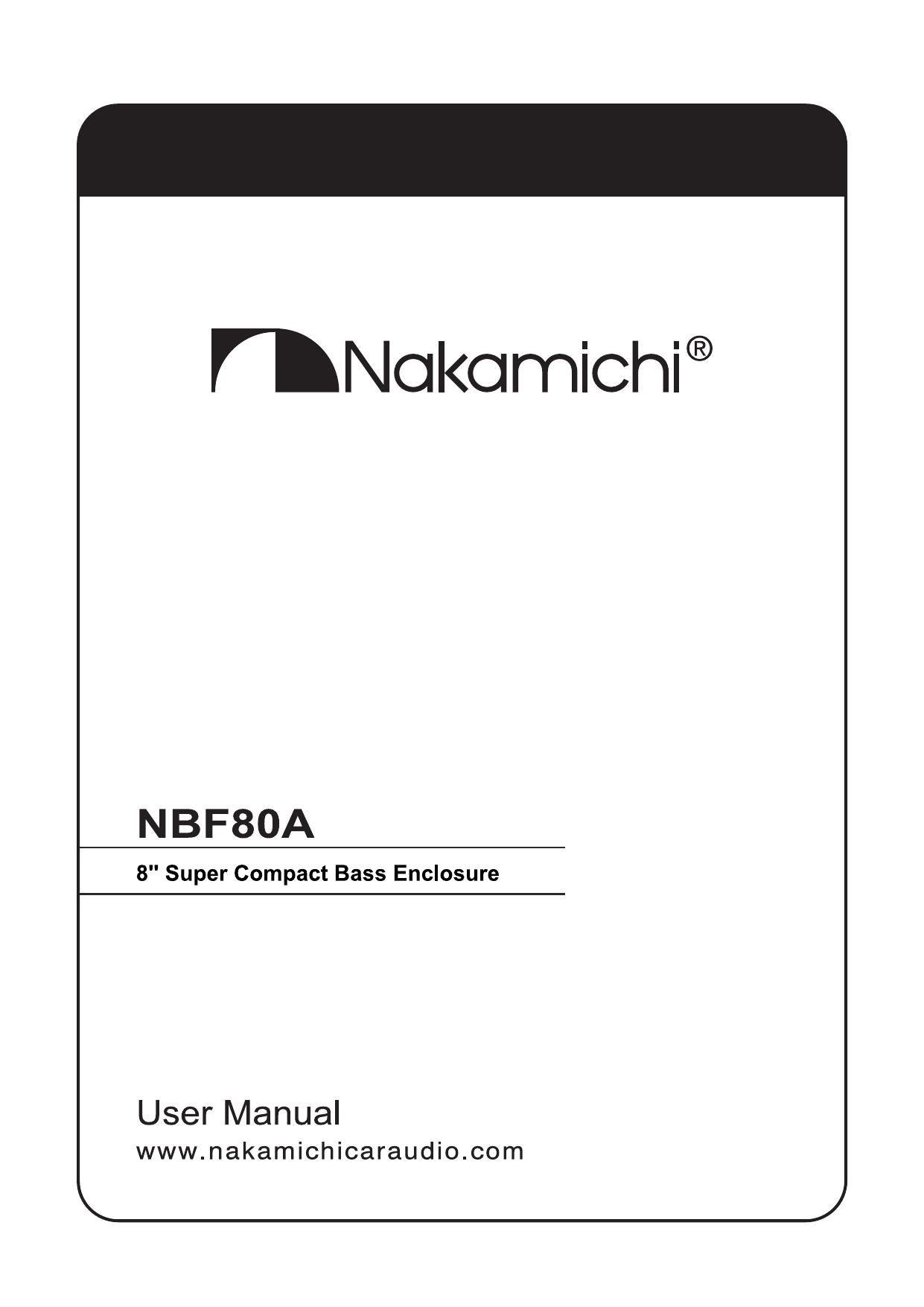Free Download Nakamichi Nbf 80a Owners Manual