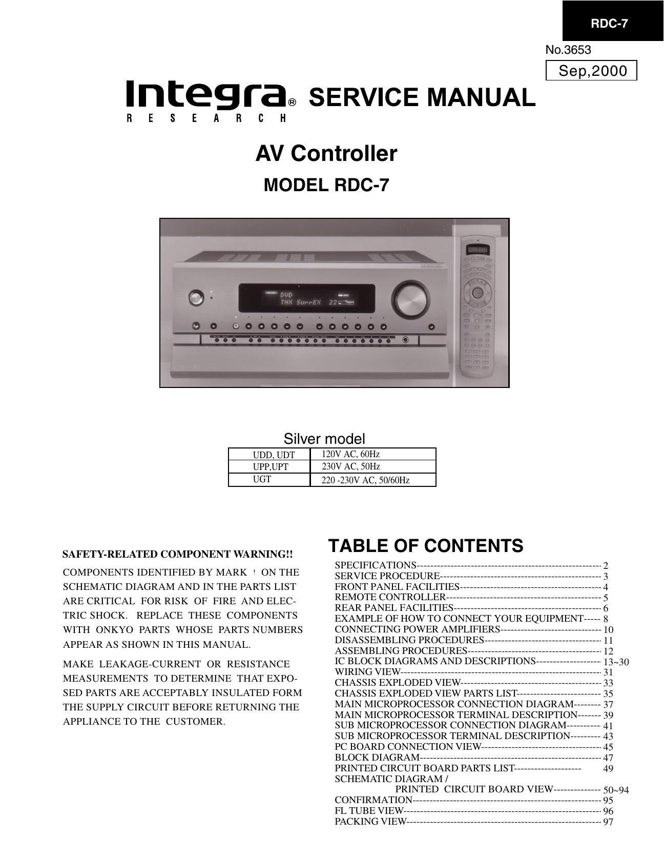 Onkyo Rdc 7 Service Manual Wiring Diagram