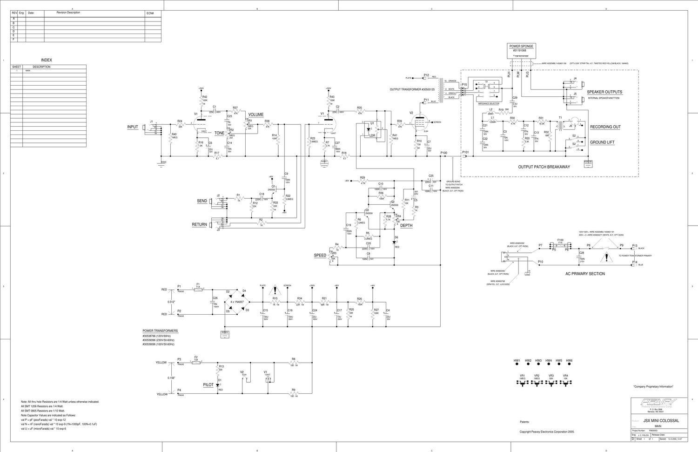 Free download Peavey JSX Mini Colossal SchematicAudio Service Manuals