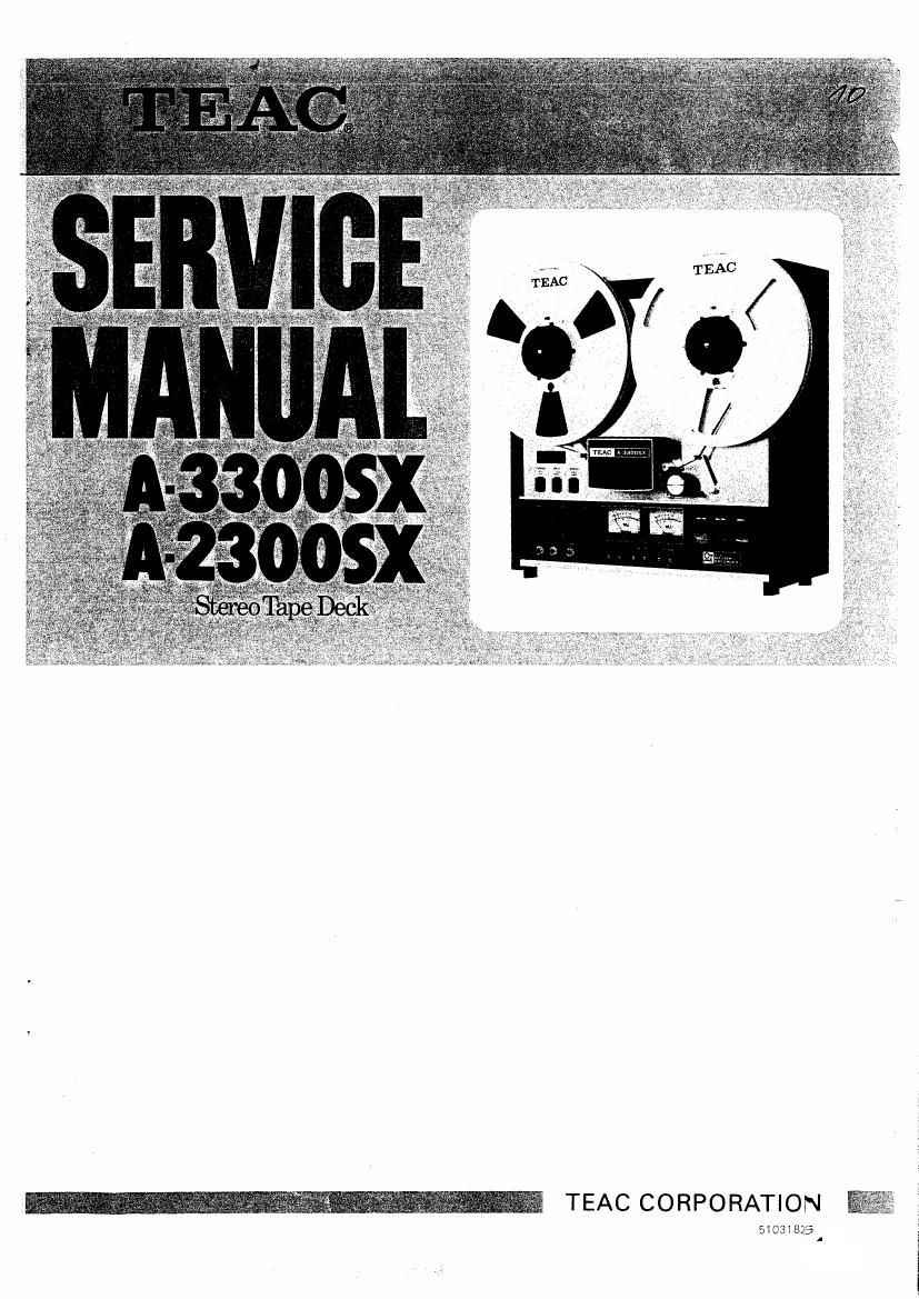 Owner'S Manual for Teac A-3300sx