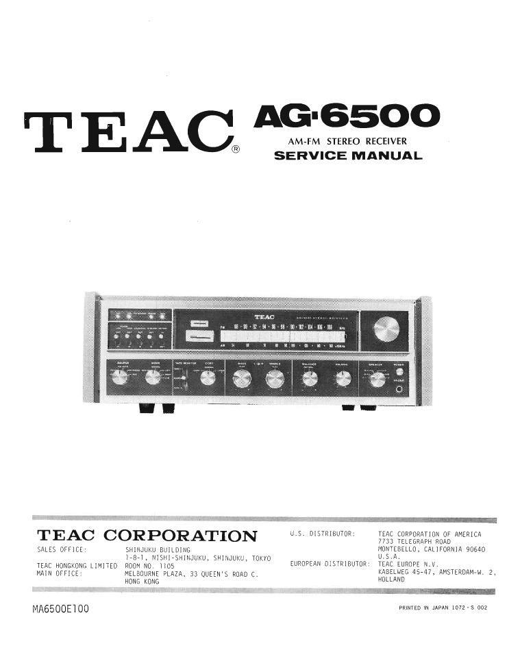 Teac Service Manuals