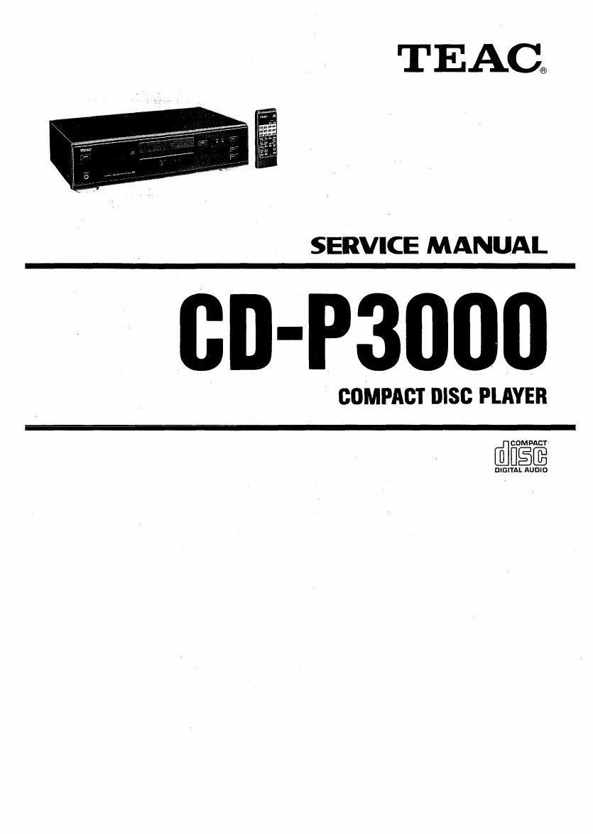 Teac CD P3000 Service Manual
