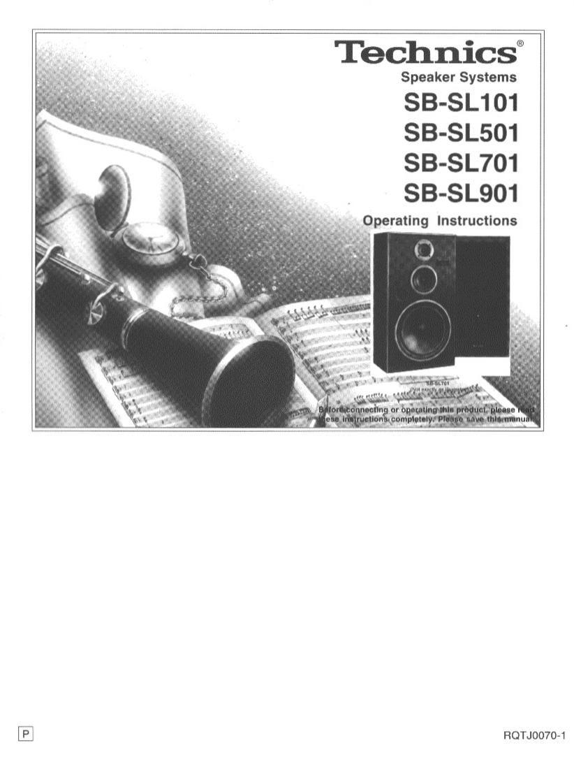 Technics SB SL501 Owners Manual