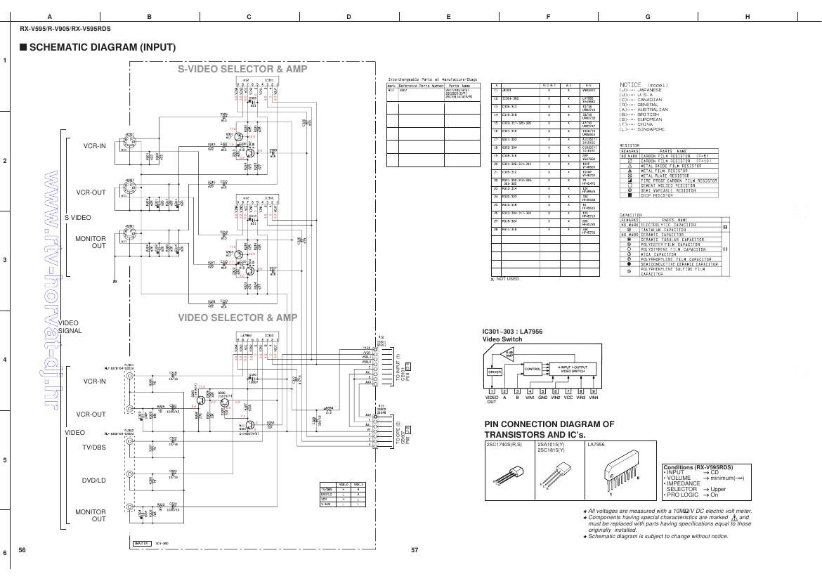 Free Download Yamaha Rxv 595 Schematic